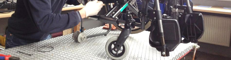 Rollstuhl Reparatur Werkstatt