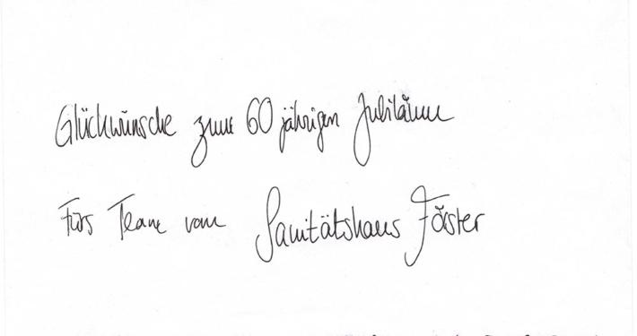 60 Jahre Sanitätshaus Förster in Frankfurt