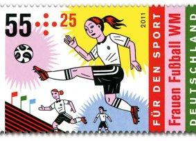 Fußallerinnen Briefmarke