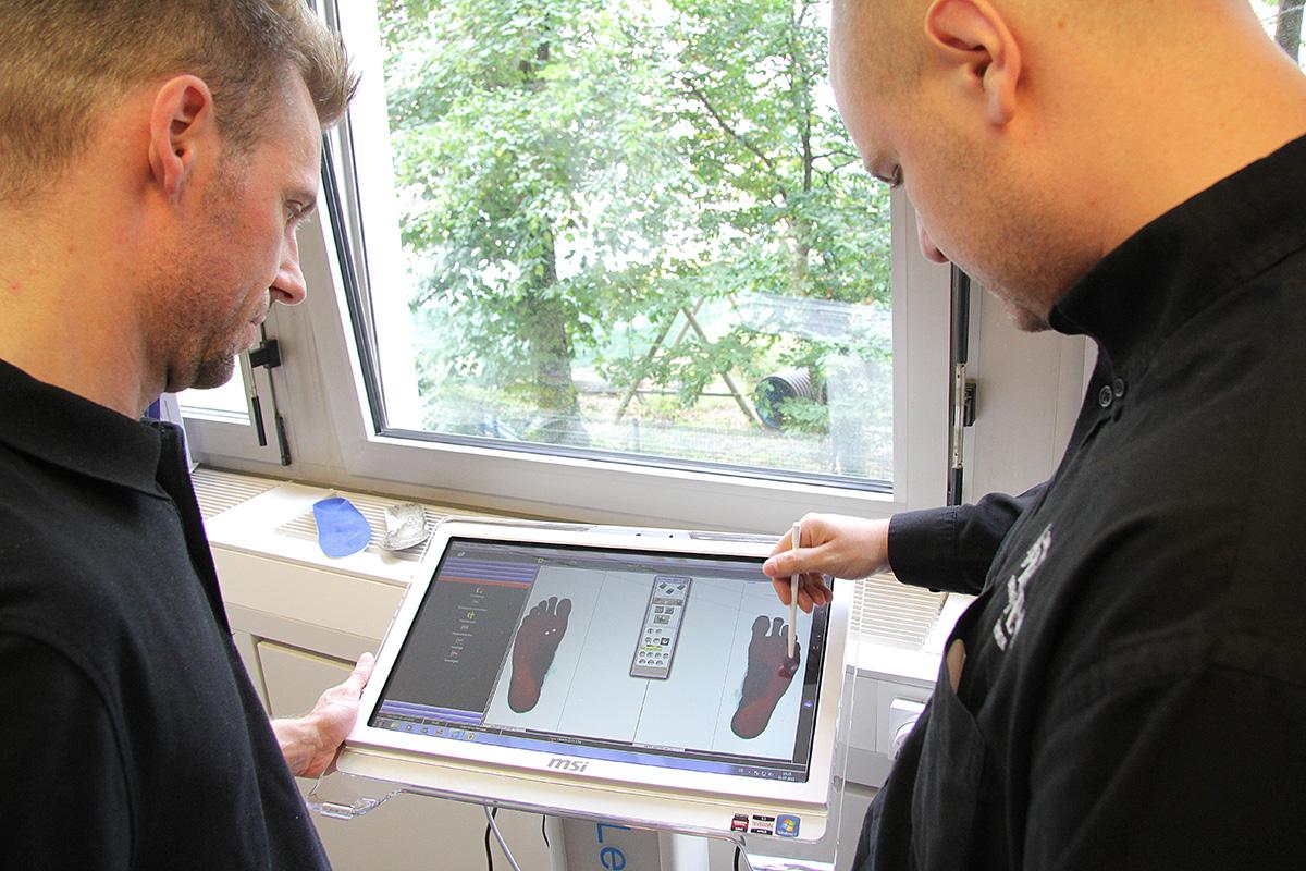 Einlagen scannen und anpassen